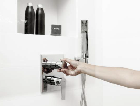 Concealed shower mixer by Clever