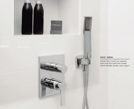 Concealed rain shower by Clever