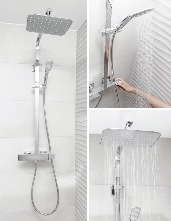 Thermostatic shower system by Clever